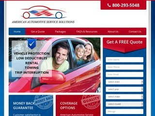 Auto Warranty Website Design