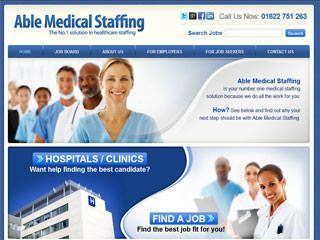 Medical Staffing Website Design