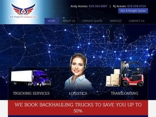 Trucking Website Design: Web Design for The Trucking and