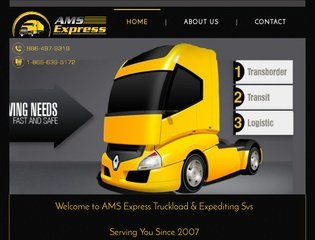AMS Express Trucking Before Website Redesign