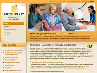 Apismellis Home Care | Healthcare Website Design