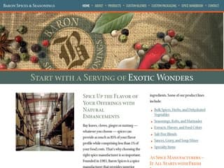 Food Service Distributor Website Design