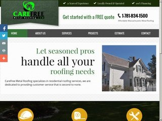 Metal Roofing Company Before Website Redesign
