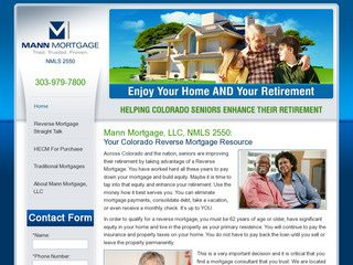 Reverse Mortgage Website Design