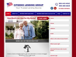 Reverse Mortgage Webiste After Redesign