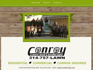 Lawn Care Website Design Before Website Redesign