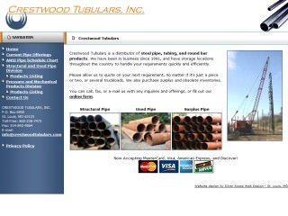 Crestwood Tubulars before Website Redesign