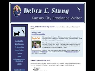 Freelance Writer Before Website Redesign