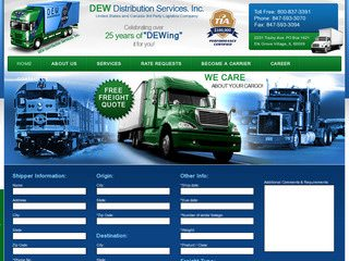 Third Party Logistics Company Website After Website Redesign