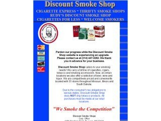 Discount Smoke Shop Before Website Redesign