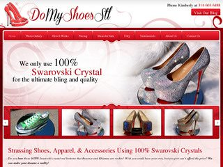 Fashion Website Design - Designer Shoe Strassing Company