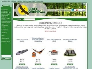 Eagle Camping before Website Redesign