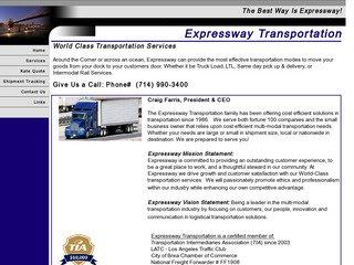 Freight Transportation & Trucking Company Before Redesign