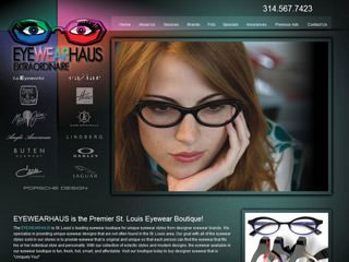 Fashion Website Design - Eyewear Boutique