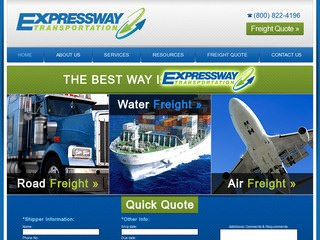 Transportation & Trucking Web Design