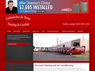 St. Louis Heating & Cooling Before Redesign
