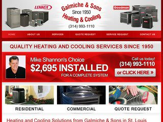 St. Louis Heating & Cooling After Website Redesign