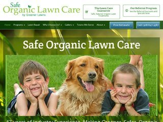 Organic Lawn Care Company Before Redesign