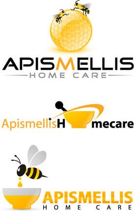 Apismellis Home Health Care Logo Design