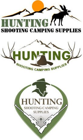 Hunting Shooting Camping Supplies Company Logo Design