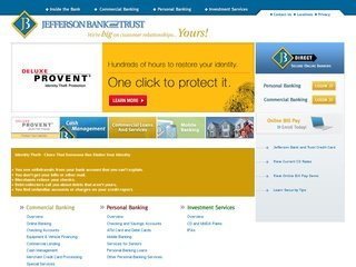 Bank Website Design Before Website Redesign