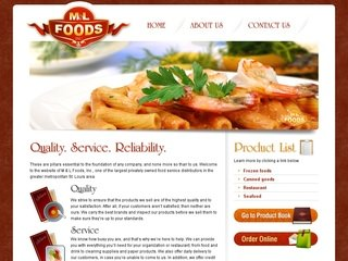 Restaurant Distributor Website Design