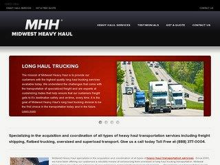 Heavy Haul Trucking Company Website Before Website Redesign