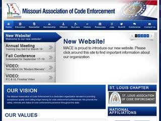 Missouri Building Code Enforcement After Website Redesign