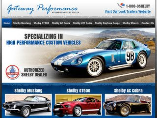 Missouri Shelby Dealer Website Design