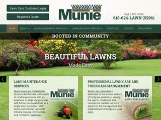 Lawn Care Website Design After Redesign