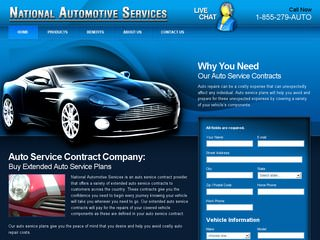 Auto Warrranty Website Design