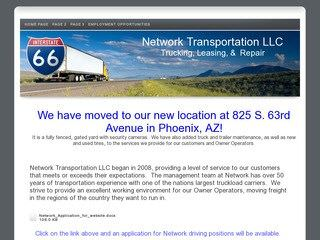 Network Transportation & Trucking Before Redesign