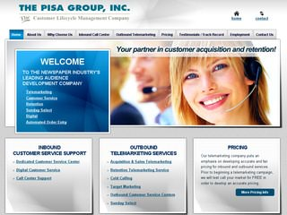 The Pisa Group After Website Redesign