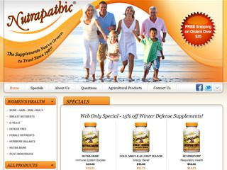 Nutrapathic After Website Redesign