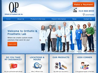 Orthotic & Prosthetic Lab | Medical Website Redesign