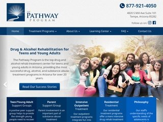 Drug Treatment Program Website Design After Redesign