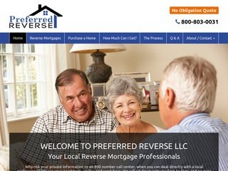 Reverse Mortgage Website Designs