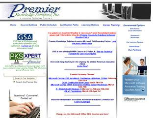 Premier Knowledge Solutions Before Website Redesign