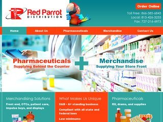 Red Parrot Pharmaceutical Distributor After Redesign