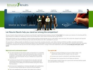 Resume Writing Service Web Design