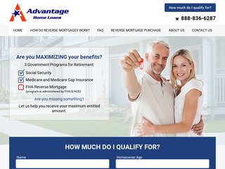 Reverse Mortgage Web Design
