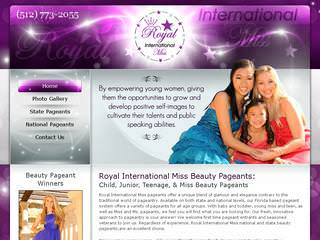 Website Design for Beauty Pageants
