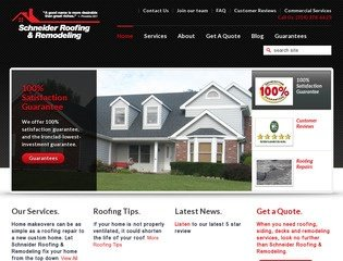 Schneider Roofing & Construction Before Redesign