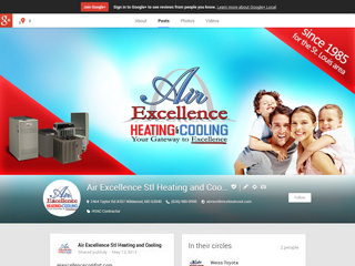 Air Excellence Heating & Cooling Google+ Page Design