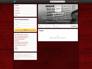 Crosscheck Investigations Twitter Page Design