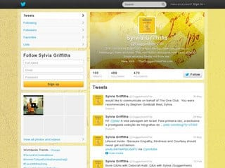 The Guggenheim File Twitter Page Design