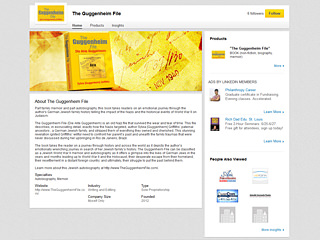 The Guggenheim File LinkedIn Page Design