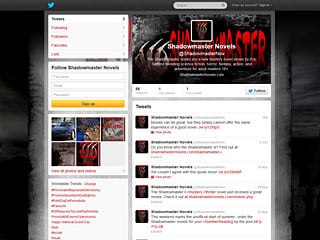 Shadowmaster Novels Twitter Page Design