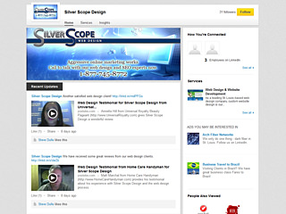 Silver Scope LinkedIn Page Design