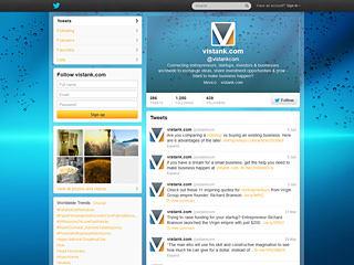 Vistank Twitter Page Design